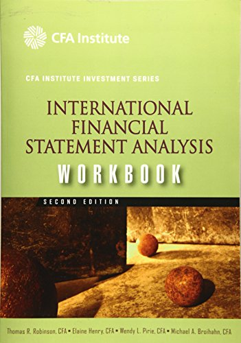 9780470916636: International Financial Statement Analysis Workbook (CFA Institute Investment Series)