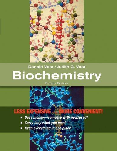 Biochemistry 4E Binder Ready Version (Loose Leaf): Donald Voet