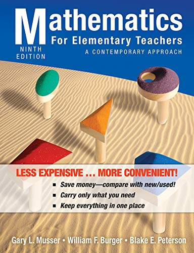 9780470917596: Mathematics for Elementary Teachers: A Contemporary Approach