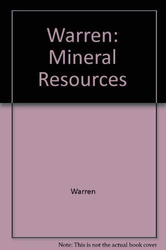 9780470921166: Warren: Mineral Resources (Problems in Modern Geography)