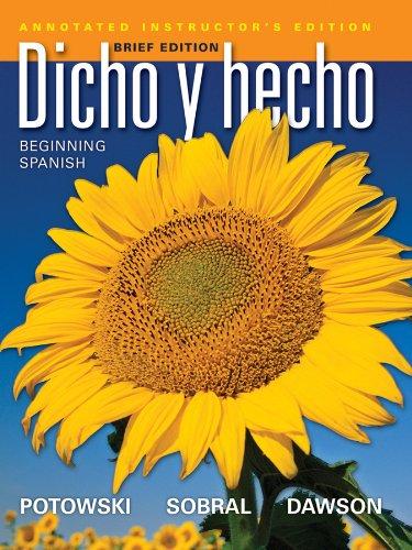 9780470922262: Dicho y hecho: Beginning Spanish (Spanish Edition)