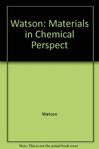 9780470922323: Watson: Materials in Chemical Perspect