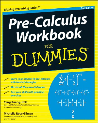 9780470923221: Pre-calculus Workbook for Dummies, 2nd Edition