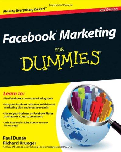 9780470923245: Facebook Marketing For Dummies