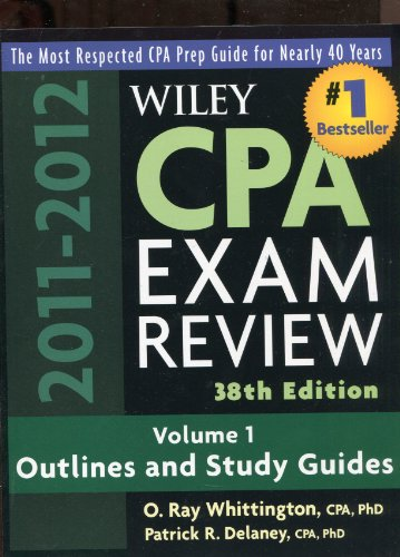 9780470923825: Wiley CPA Examination Review, 2 Volume Set (Wiley CPA Examination Review: Outlines & Study Guides / Problems & Solutions (2v.))