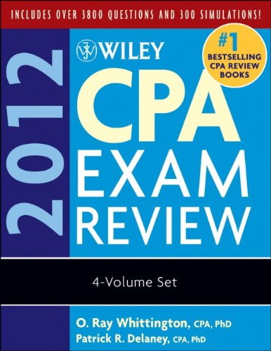 9780470923948: Wiley CPA Exam Review 2012, 4-Volume Set (Wiley CPA Examination Review (4v.))