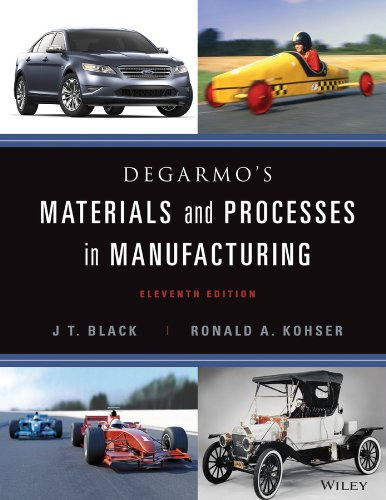 9780470924679: DeGarmo's Materials and Processes in Manufacturing [With Access Code]