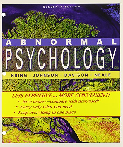 9780470927267: Abnormal Psychology 11th Edition Binder Ready Version with Binder Ready Survey Flyer Set