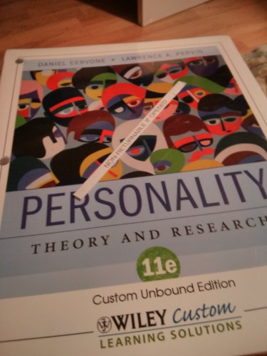 9780470929223: Personality Theory and Research 11e