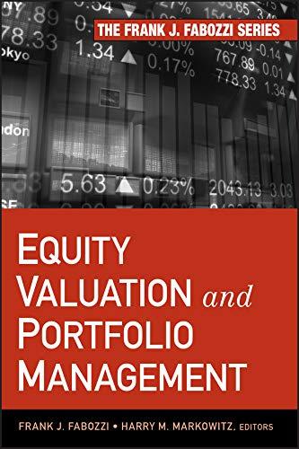 9780470929919: Equity Valuation and Portfolio Management (Frank J Fabozzi Series)