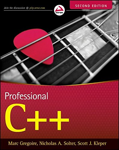 9780470932445: Professional C++ (Wrox Professional Guides)