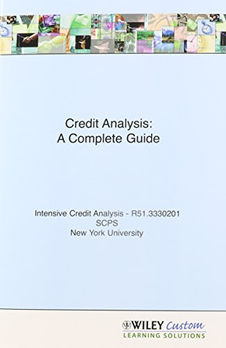 9780470937402: Credit Analysis for New York University (Frontiers in Finance Series)