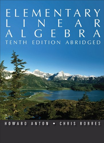 9780470937471: Elementary Linear Algebra, 10th Edition Abridged