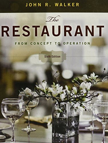 9780470940686: The Restaurant, Textbook and Student Study Guide: From Concept to Operation