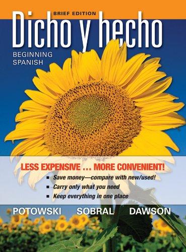 9780470942345: Dicho y hecho: Brief Edition (Spanish Edition)