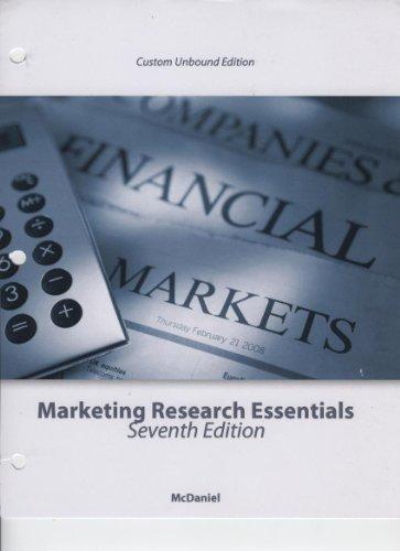 9780470953860: Marketing Research Essentials--Custom Unbound Edition