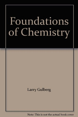 9780470957165: Foundations of Chemistry