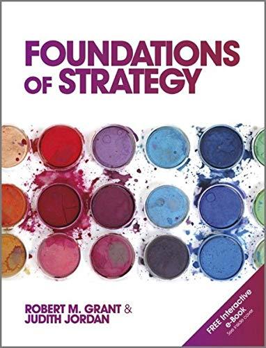 Foundations of Strategy: Judith Jordan; Robert