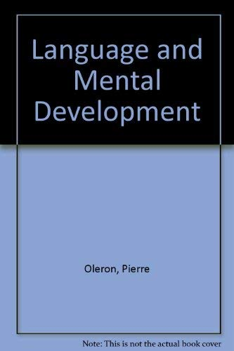 9780470990278: Language and Mental Development (English and French Edition)