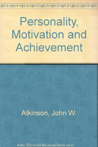 9780470993361: Personality, Motivation and Achievement