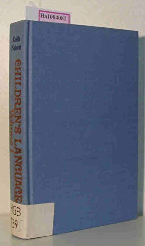 9780470993859: Children's Language (Vol 1)