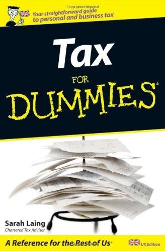 9780470998113: Tax For Dummies