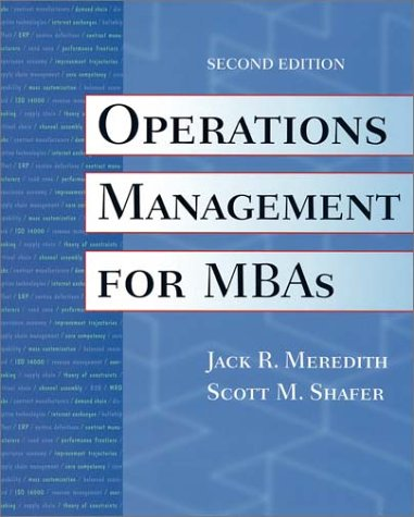 9780471000600: Operations Management for MBAs