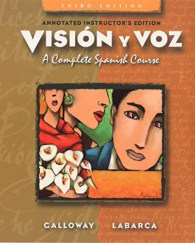 9780471001607: Annotated Instructor's Edition to Accompany Vision Y Voz: Introductory Spanish, Third Edition