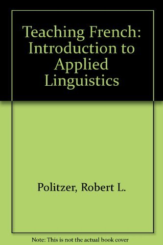 9780471004301: Teaching French: Introduction to Applied Linguistics