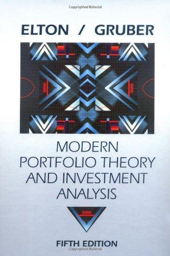 9780471007432: Modern Portfolio Theory and Investment Analysis