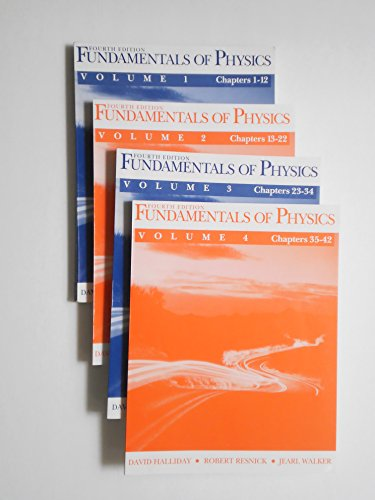 9780471008491: Fundamentals of Physics in 4 Volumes in Slipcase