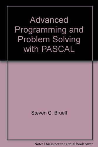 9780471011286: Advanced Programming and Problem Solving with PASCAL