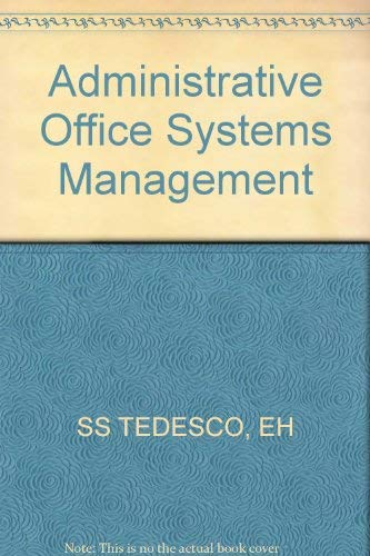 Administrative Office Systems Management: Eleanor Hollis Tedesco,