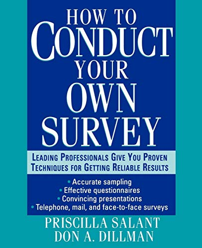 9780471012672: How to Conduct Your Own Survey
