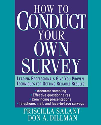9780471012733: How to Conduct Your Own Survey