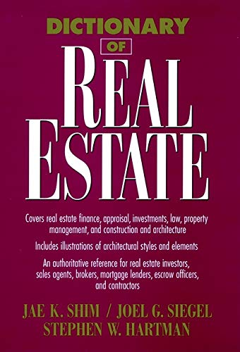9780471013365: Dictionary of Real Estate (Business Dictionary Series)