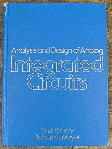 9780471013679: Analysis and Design of Analog Integrated Circuits