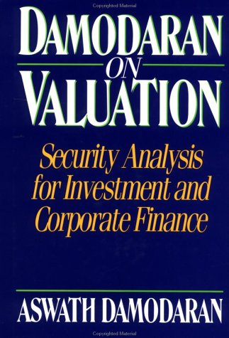 9780471014508: Damodaran on Valuation: Security Analysis for Investment and Corporate Finance (Frontiers in Finance Series)
