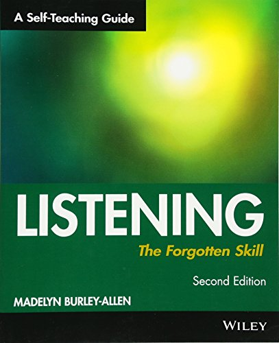 9780471015871: Listening: The Forgotten Skill: A Self-Teaching Guide