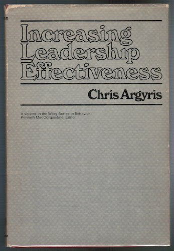9780471016687: Increasing Leadership Effectiveness (Wiley series in behavior)