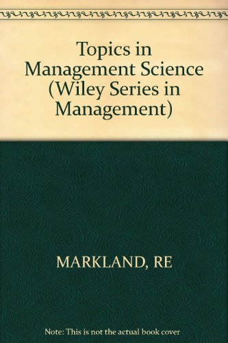 9780471017455: Topics in Management Science (Management & Administration)