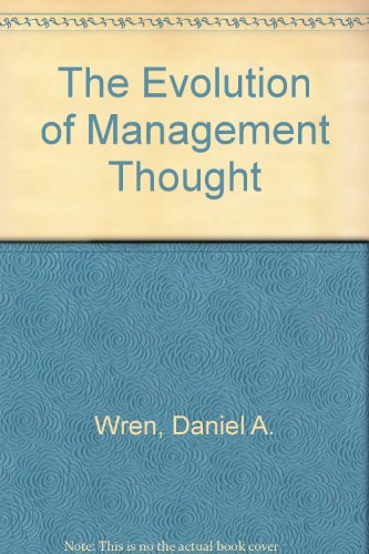 9780471021278: The Evolution of Management Thought