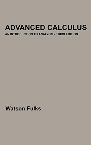 9780471021957: Advanced Calculus: An Introduction to Analysis