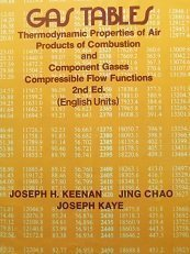 Gas Tables: Thermodynamic Properties of Air Products: Kaye, Joseph,Chao, Jing,Keenan,