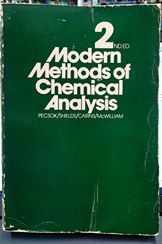 9780471022459: Modern Methods of Chemical Analysis