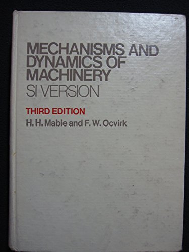 9780471023807: Mechanisms and Dynamics of Machinery