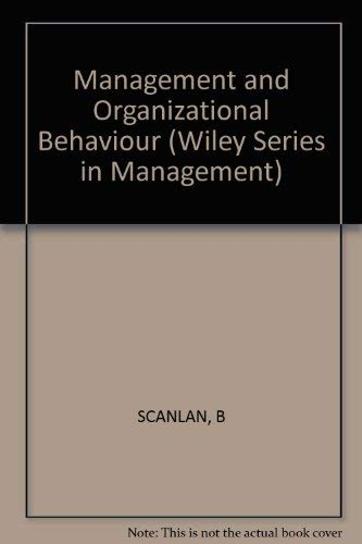 9780471024842: Management and Organizational Behaviour (Management & Administration)