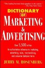 9780471025023: Dictionary of Marketing and Advertising (Business Dictionary Series)