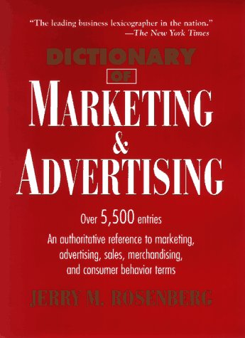 9780471025030: Dictionary of Marketing and Advertising (Business Dictionary Series)