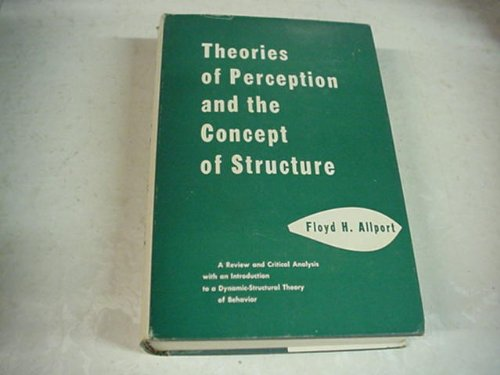 9780471025085: Theories of Perception and Concept of Structure